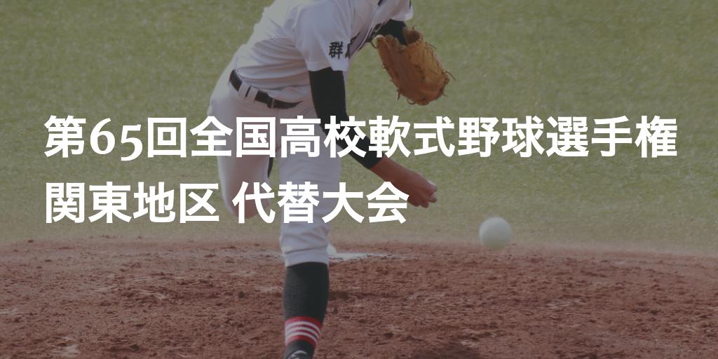 関東】第65回全国高校軟式野球選手権 代替大会   高校軟式野球ブログ